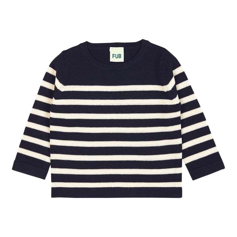 BeeBoo|BeeBoo FUB T Shirt manches longues baby blouse navy ecru